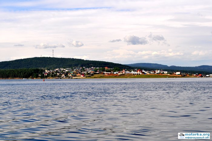 Поселок Большая речка. Вид с Ангары