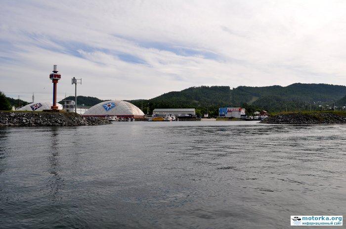 База МЧС в п. Никола. Вид с воды