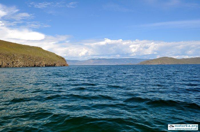 пролив Ольхонские ворота вид с Байкала